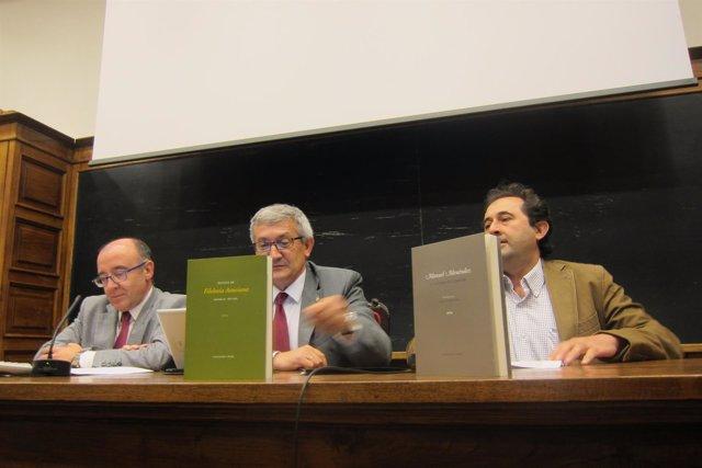 Por la izquierda, Gómez, García y Viejo, durante la presentación.