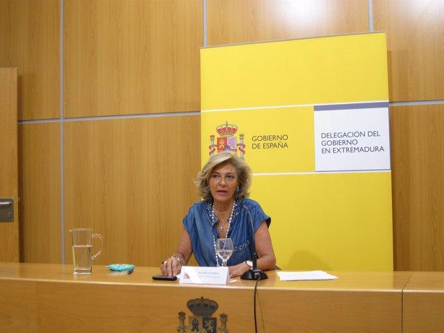 Cristina Herrera, en rueda de prensa