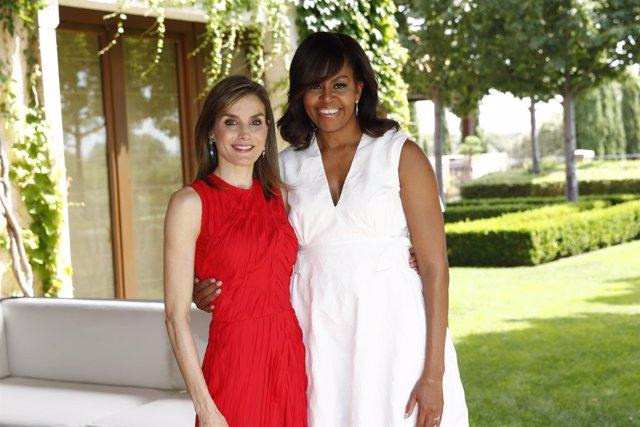 Michelle Obama y la Reina Letizia en Zarzuela