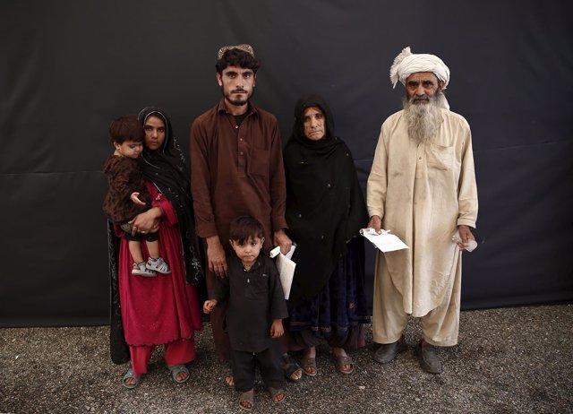 Refugiados afganos repatriados