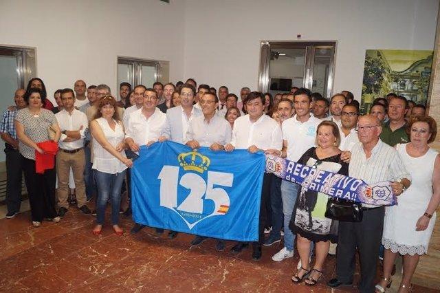 El presidente de la Diputación de Huelva, Ignacio Caraballo, apoya al Recreativo