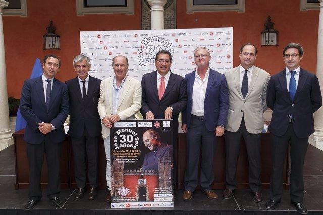 Fundación Cajasol presenta el concierto benéfico de José Manuel Soto