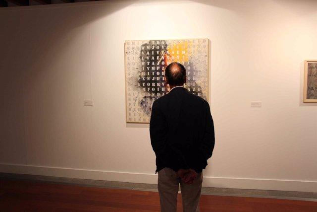Hombre en un museo