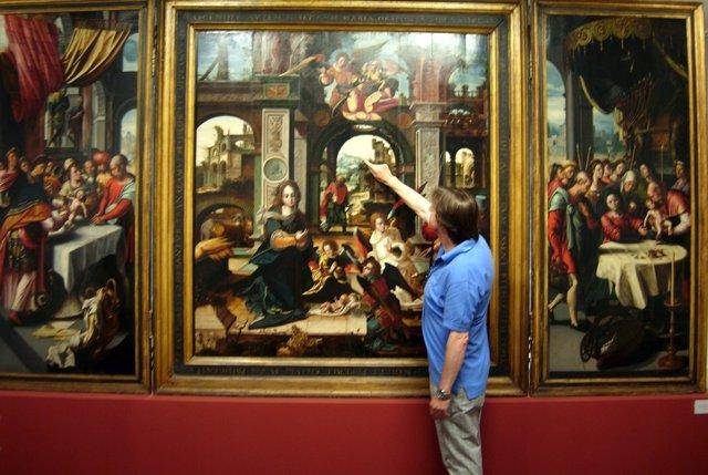 Restaurador de soportes de pintura del Museo del Prado