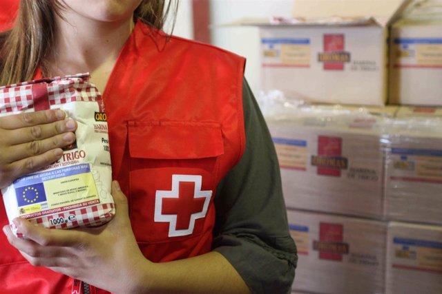Voluntaria de Cruz Roja