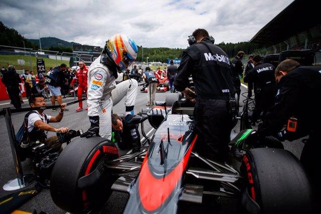 Fernando Alonso en el GP Austria 2015