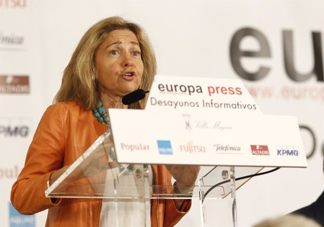 Consuelo Madrigal en los Desayunos de Europa Press
