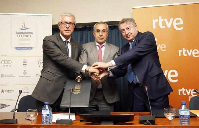Convenio RTVE Juegos Mediterráneos Tarragona Ballesteros COE Alejandro Blanco