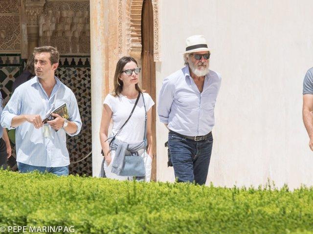 Harrison Ford y su pareja, la actriz Calista Flockhart, visitan la Alhambra