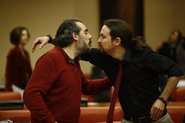 Pablo Iglesias y Raimundo Viejo en una imagen de archivo.