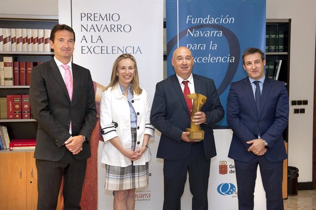 Juan José Cuns, Izaskun Goñi, Mariano Barasoain y Javier Iradiel