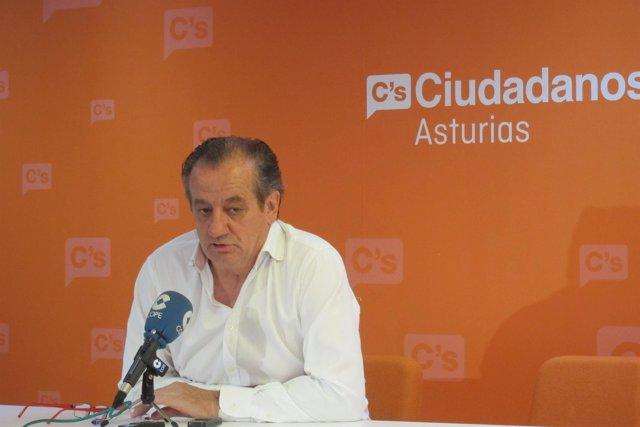 El portavoz de Ciudadanos en la Junta General del Principado de Asturias, Nicano