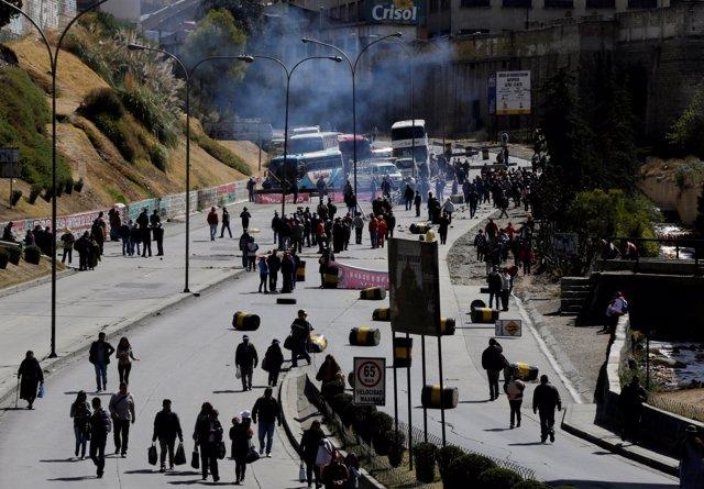 Manifestaciones COB, Enatex, en Bolivia