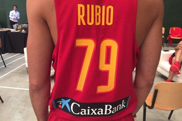 Ricky Rubio vestirá el 79 en los Juegos de Río