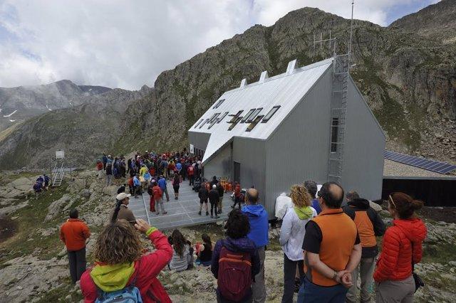 Inauguración del refugio.