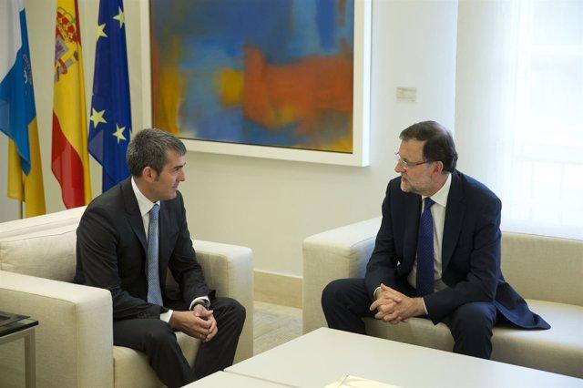 Fernando Clavijo y Mariano Rajoy