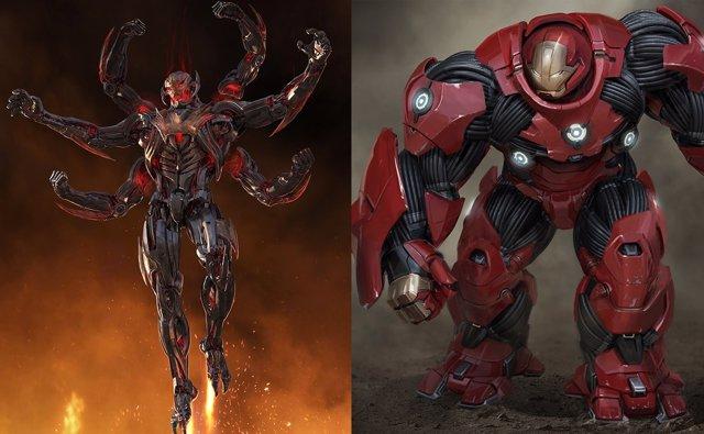 Ultrón y Hulkbuster concept arts