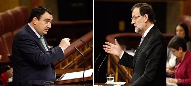 Aitor Esteban y Mariano Rajoy.