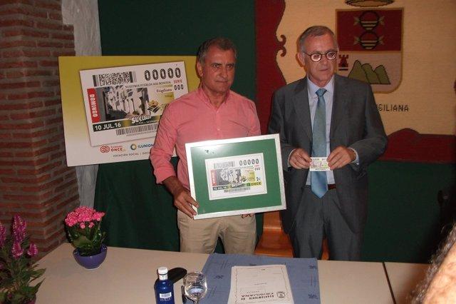 La ONCE Ha Presentado Hoy El Cupón Dedicado A Frigiliana