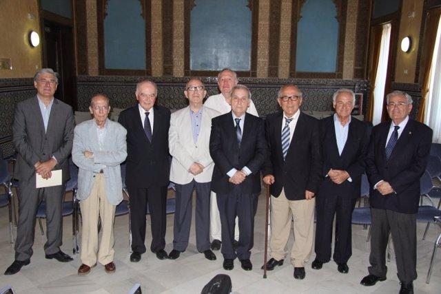 Integrantes de la Academia Andaluza de Ciencia Regional durante su reunión