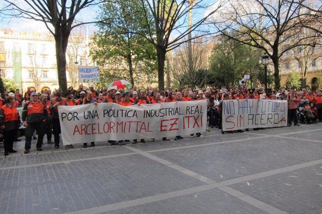 Concentración trabajadores Arcelor Zumarraga