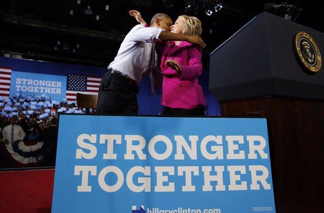 Barack Obama y Hillary Clinton