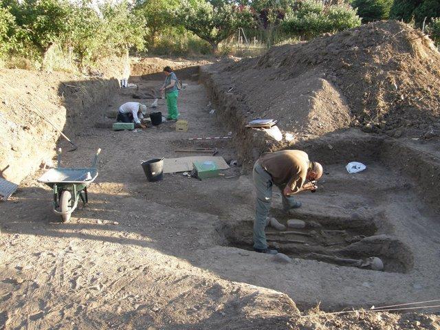 Tumbas visigodas encontradas en Herrera de Pisuerga (Palencia)