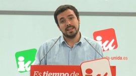 """Garzón espera que el PSOE elija la izquierda y no los """"llamamientos"""" de González"""