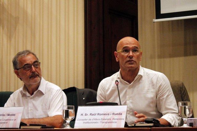 El conseller de Asuntos Exteriores, Raül Romeva