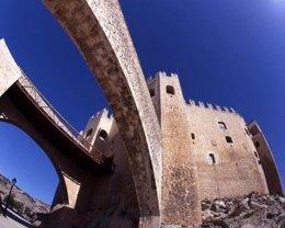 Perspectiva del Castillo de Los Fajardo, en Vélez Blanco