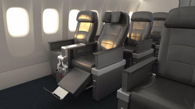Nuevos asientos del Boeing 787-9 de AA