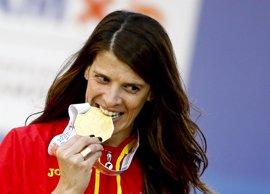 Ruth Beitia hace historia con un triple oro