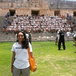 Natalia Rojo, 'rutera' en 2014, con la expedición de 2016 en México