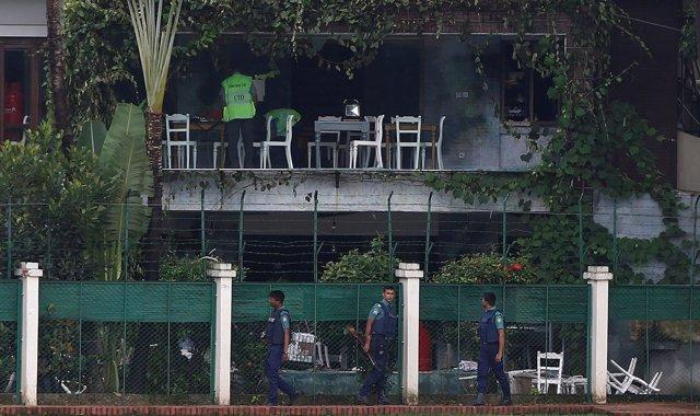 Escenario del ataque del Estado Islámico en la capital de Bangladesh, Dacca