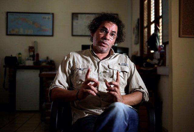 Pastor Alape (FARC), en una entrevista con Reuters