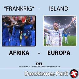 Islandia exige a un partido danés que retire un cartel racista con la imagen de su equipo