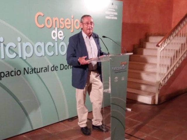 El presidente del Consejo de Participación de Doñana, Miguel Delibes.