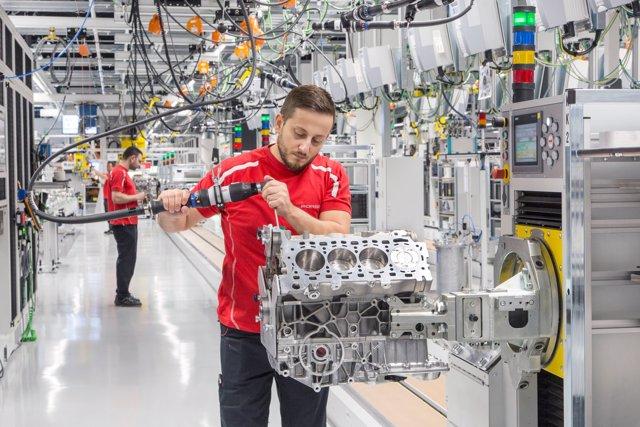Planta de motores de Porsche en Zuffenhausen (Alemania)