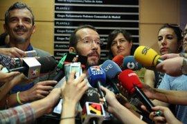Echenique afirma que el portavoz de Podemos en Madrid seguirá en su cargo