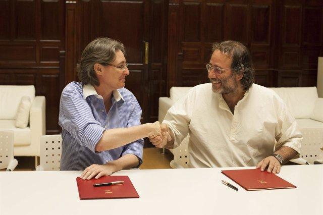 Marta Higueras y Enrique Villalobos