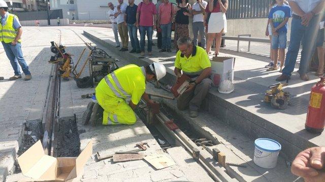 Nota Y Fotos/ La Junta Concluye Los 16 Kilómetros Del Trazado Completo Del Metro