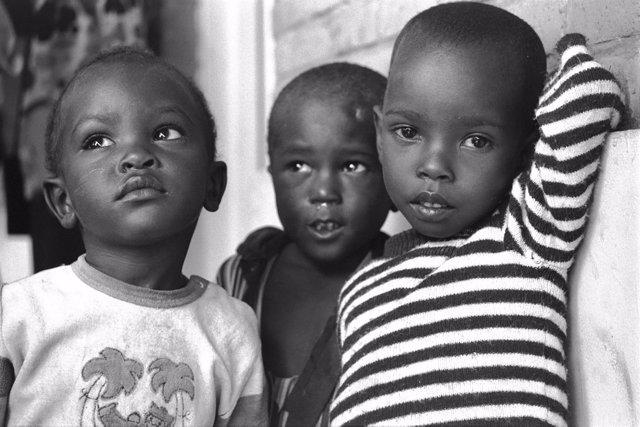Niños en África