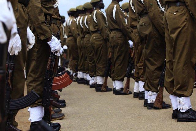 Militares del Ejército de Liberación de Sudán del Sur.