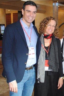 Gloria Rojas con Pedro Sánchez
