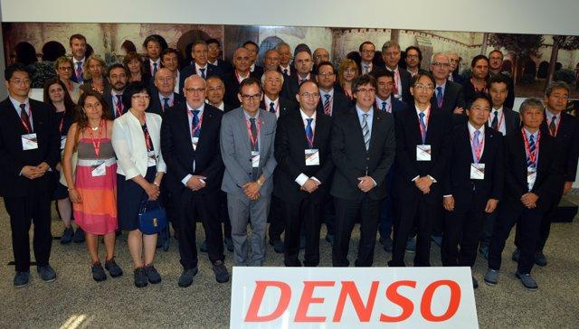 El presidente Carles Puigdemont visita Denso