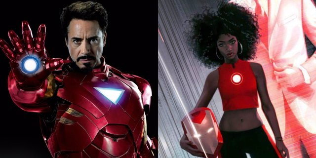 Iron Man y Riri Williams