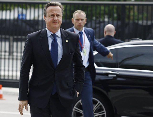 El primer ministro británico, David Cameron, a su llegada a la cumbre de la OTAN