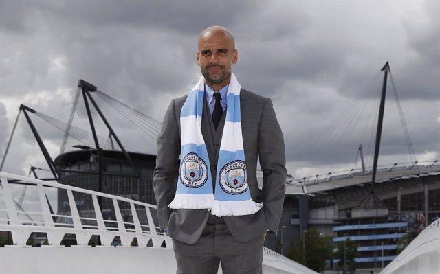 Pep Guardiola, presentado con el Manchester City
