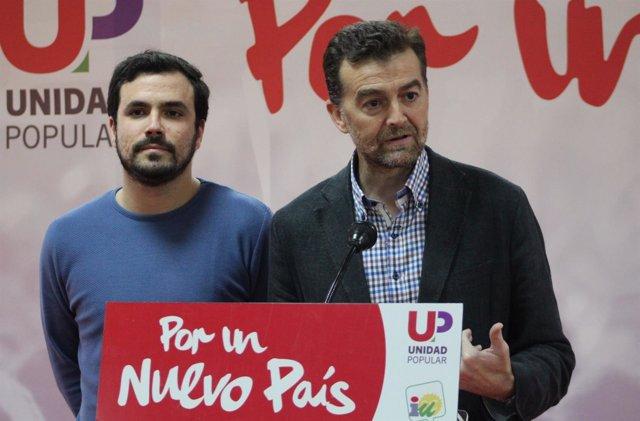 Alberto Garzón y Antonio Maíllo
