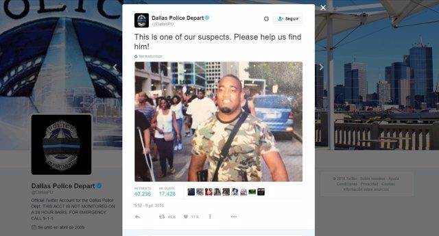 Imagen del inocente identificado como sospechoso en Dallas